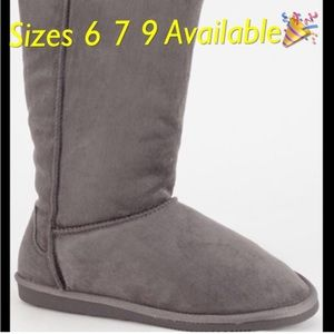 Shoes - NIB Boot Faux Suede Faux Fur Lining Winter Warm